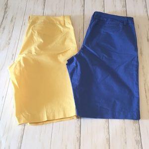 "Nautica 10.5"" Bermuda Shorts. Bundle of 2. Size 8."